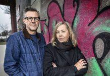 Henrik Georgsson och Sara Kadefors. Bild: Jan Danielsson/SVT