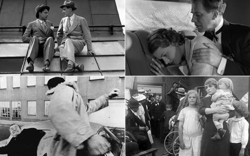 Medsols från vänster: För hennes skull (1930), Valborgsmässoafton (1935), Ingeborg Holm (1913) och Misshandlingen (1969). Fotograf/Källa: SF Studios