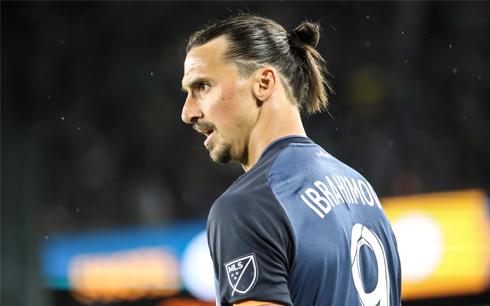 Zlatan Ibrahimovic LA Galaxy MLS Soccer.