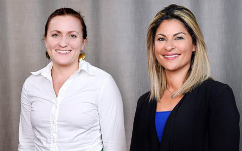 Flerfaldigt prisbelönade producenten Annika Rogell och Hadis Jabbari som produktionschef