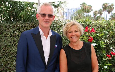 Bero Beyer, vd Nederländska Filmfonden och Anna Serner, vd Svenska Filminstitutet.